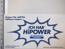 Aufkleber Sticker Pioneer Car Stereo Power HiFi HiPower Decal (3296)