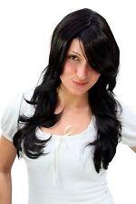 Noir Perruque pour Femmes Cheveux Longs Stade Léger Ondulé Raie Perruque 3117-2