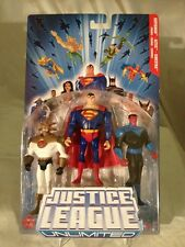 2005-HTF JLU -SUPERMAN-AZTEC-SINESTRO -3 PACK FIGURE SET -MISP N/M CONDITION