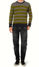 $1,8K NEW AUTHEN. BALMAIN REGULAR FIT WASHED DENIM BIKER JEANS COTTON M/JAPAN 31