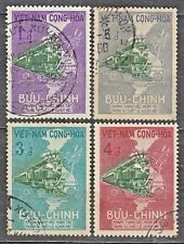 South VIETNAM  1959 used SC#116/19 set, Opening of the Saigon / Dongha Railroad.
