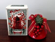 "1990s Paul Hoge Creations Christmas 4"" Bell Candle In Box"