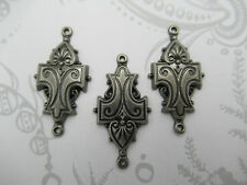 Vintage Style Connectors Antique Silver Scroll Links Chandelier Earring Part 3pc