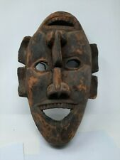 Old Vintage Hand Made Unique Wooden Face Mask Collectible NH5422