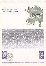 Document philatélique 08-78 1er jour 1978 Aménagement du Territoire