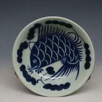 Chinese old porcelain  blue and white porcelain  bowl Fish plate  bowl