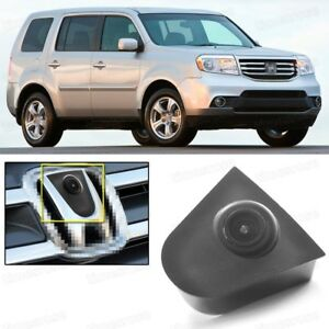 Wide Degree CCD Car Front View Camera Logo Embedded for Honda Pilot 2009-2015