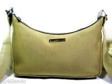 Gucci Brownish Green Thick Nylon Shoulder Saddle Bag Italy