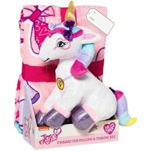 Jojo Siwa Unicorn Character Pillow & Throw Set