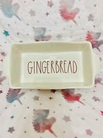 "Rae Dunn GINGERBREAD Holiday Christmas Loaf Baking Dish Pan 9""x5"" & 2"" Deep"