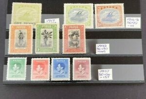 Stamps Papua Lightly Mounted Mint Selection