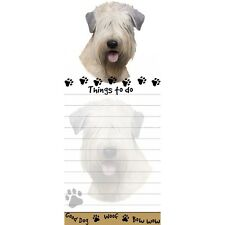 Soft Coated Wheaten Terrier Die Cut List Pad/Note Pad with Magnetic Back