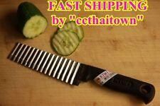 "5"" THAI CHEF DECOR KNIFE WAVE KNIFE KIWI ZIGZAG BLADE SLICER KITCHEN STAINLESS"