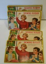 Vintage Sewing Susan Gold Eye Needles 4 Packages Pre-owned