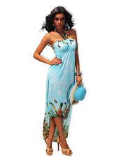 Sexy Beach Babe Bond Girl Fantasy Maxi Evening Butterflies Dress - New