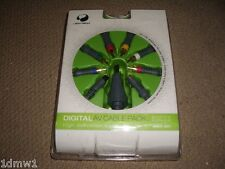 MICROSOFT XBOX 360 DIGITAL AV PACK COMPONENT S-VIDEO OPTICAL TV CABLES BRAND NEW