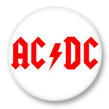 """Pin Button Badge �˜25mm 1"""" ACDC Hard Rock Eavy Metal Angus Young"""