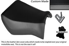 BLACK & GREY CUSTOM FITS YAMAHA MT 03 06-13 FRONT LEATHER SEAT COVER