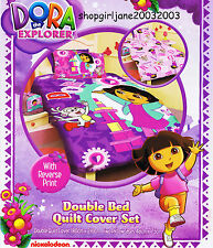 Dora the Explorer - Let's Play - Double/US Full Bed Quilt Doona Duvet Cover Set