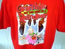 Grandma Got Run Over By A Reindeer Red XXL T-Shirt With Lyrics Cotton