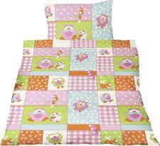 Bierbaum Kinder Baby Renforce Bettwäsche 100x135cm Kissen 40x60cm Eulen Pink