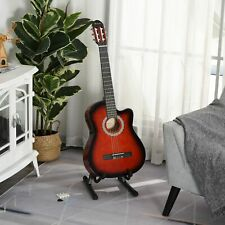 "Soozier 39"" Electric Classical Acoustic Guitar Set for Beginners Adults, Wine"