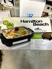 Hamilton Beach Electric Skillet, Durathon Ceramic, Removable Pan, Tempered Glass