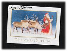Vintage Elizabeth Goodrick-Dillon St. Nick Reindeers Christmas Greetings Card