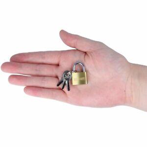 20mm SOLID BRASS Small Padlock Mini Luggage Lock Bag Travel Suitcase Tent Zip UK