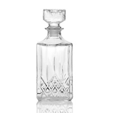 Cut Glass Whiskey Decanter Alcohol & Drinking Carafe Novelty Craft Gift M&W