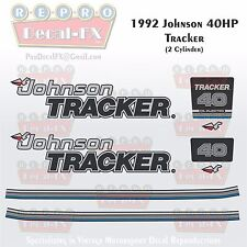 1992 Johnson 40 HP Tracker Outboard Reproduction 8 Piece Marine Vinyl Decals