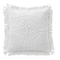 Bianca Savannah Super Soft Cotton Chenille Cushion White