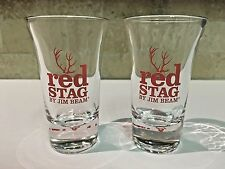RED STAG JIM BEAM Shot Glasses  Set of Two 2