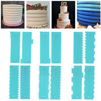 1PC Icing Smoother Pastry Cake Scraper Decorating Comb Durable DIY Baking Tool!