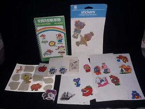 Job Lot 1980s Stickers with Small Album. puffy stinky poochie rainbow brite