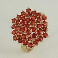 Markenlose runde Ringe aus Gelbgold mit echten Edelsteinen