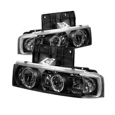 Chevy 95-05 Astro Black Dual Halo LED Projector Headlights Lamp GMC Safari