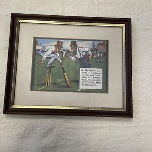 Charles Crombie Cricket Print- Rule 15 in frame