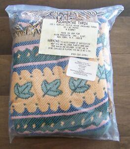 Disney Pocohontas jacquard throw tapestry blanket vtg Avon 1995 NEW