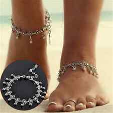 Sexy Women Anklet Silver Bead Chain Ankle Bracelet Sandal Beach Foot Jewelry TR