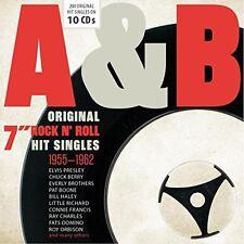 "Various - A&B Original 7"" Rock n' Roll Hit Singles 1955-1962 (2016) 10CD Box NEW"