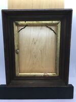 "Antique Victorian Mahogany Deep Recessed Picture Frame Fits 7-1/2""x6"" Gold Trim"