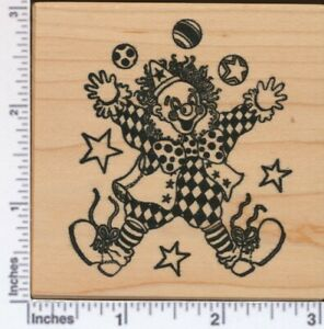 PSX G-053  JUGGLING CIRCUS CLOWN    Retired  Rubber Stamp
