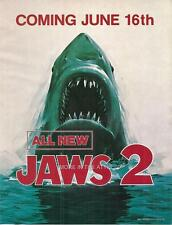 RARE JAWS 2 ORIG VINTAGE UNIVERSAL PICTURES THEATRICAL MINI POSTER HERALD