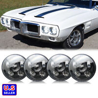 "4pcs 5 3/4"" 5.75 LED Headlights Hi/Low Beam for Pontiac GTO Grand Prix Firebird"