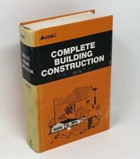 Audel Complete Building Construction First Edition First Printing 1978 Hardcover