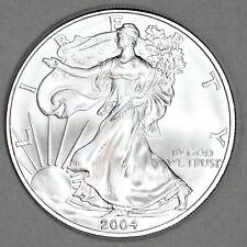 2004 UNCIRCULATED AMERICAN SILVER EAGLE, 1oz 0.999 FINE SILVER (23)