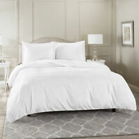 Duvet Cover Set Soft Brushed Comforter Cover W/Pillow Sham, White - Full