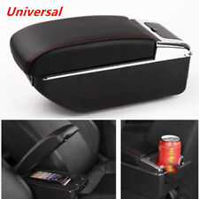 7 USB Rechargeable Style Car Central Container Armrest Box Storage PU leather
