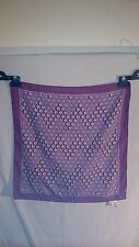 David Jones Ladies Scarf in Maroon with a Lilac and White Geometric Pattern